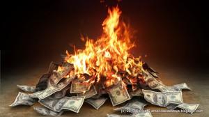 dinero fuego